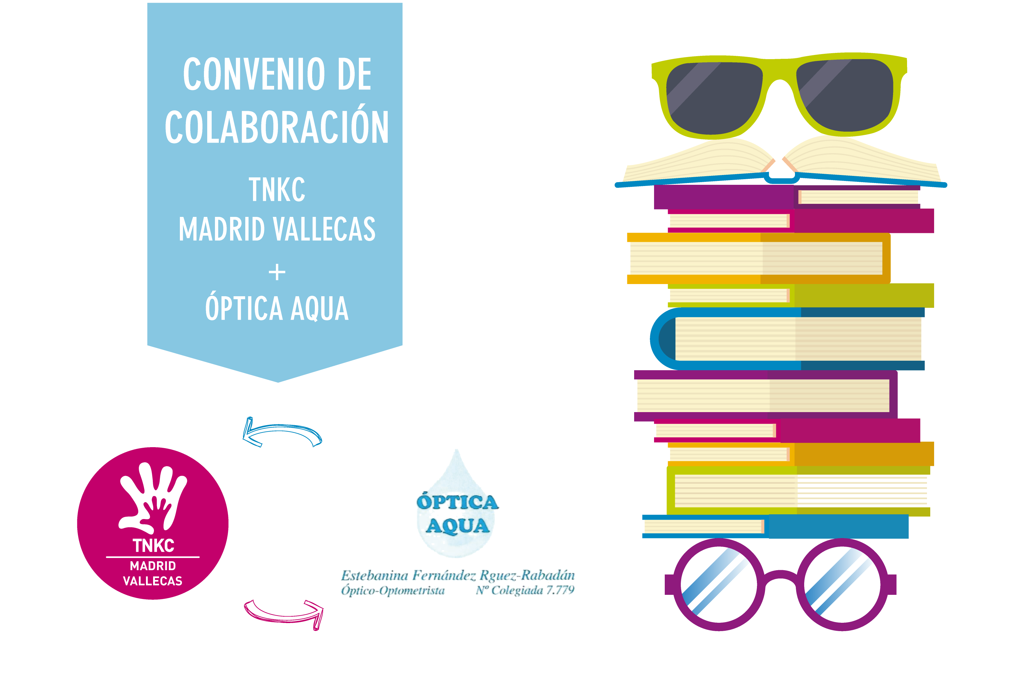 The New Kids Club Madrid-Vallecas firma un convenio con Óptica Aqua