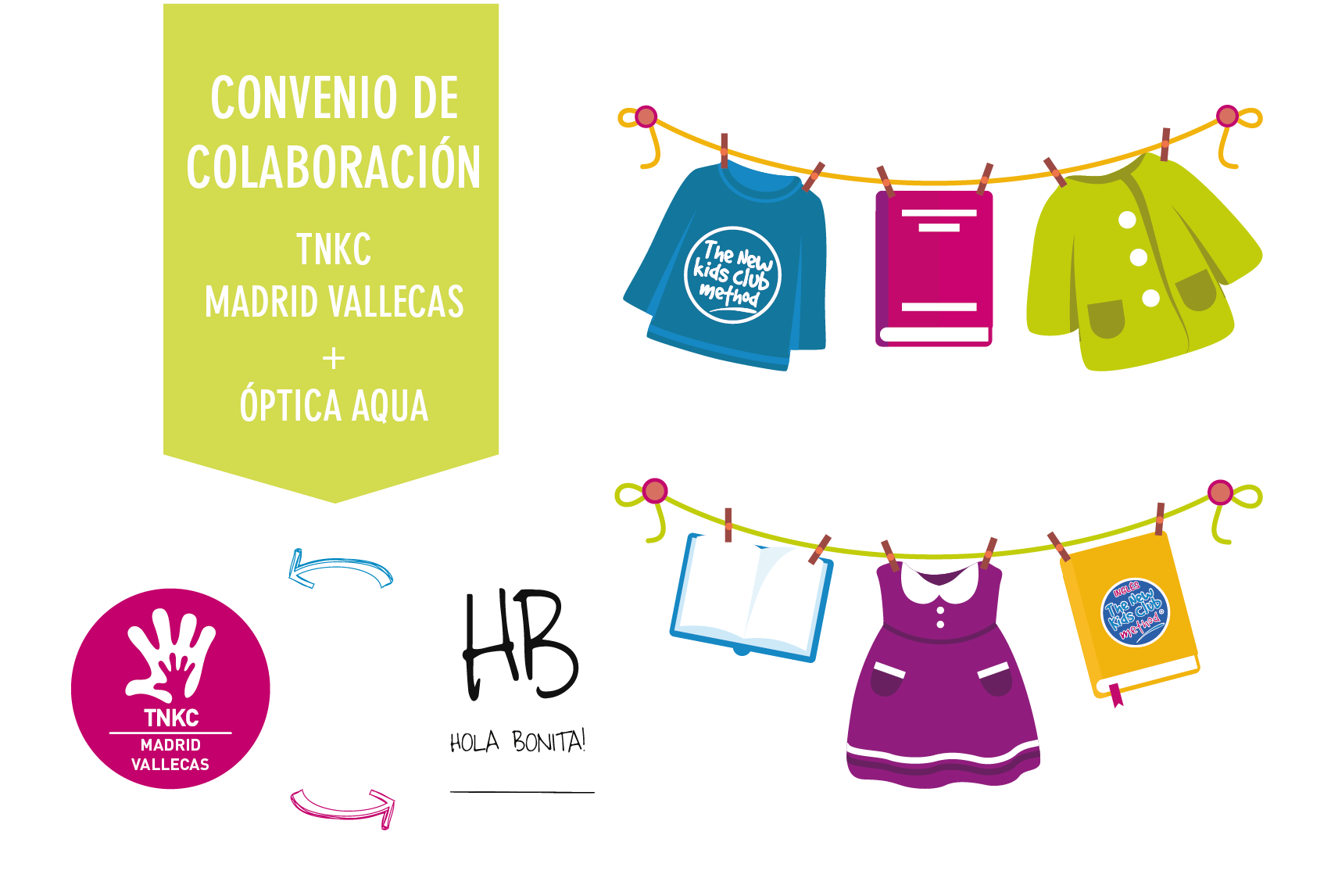 The New Kids Club Madrid-Vallecas firma un convenio con ¡Hola Bonita!